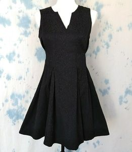 Vera wang princess black fit and flare dress sz 7